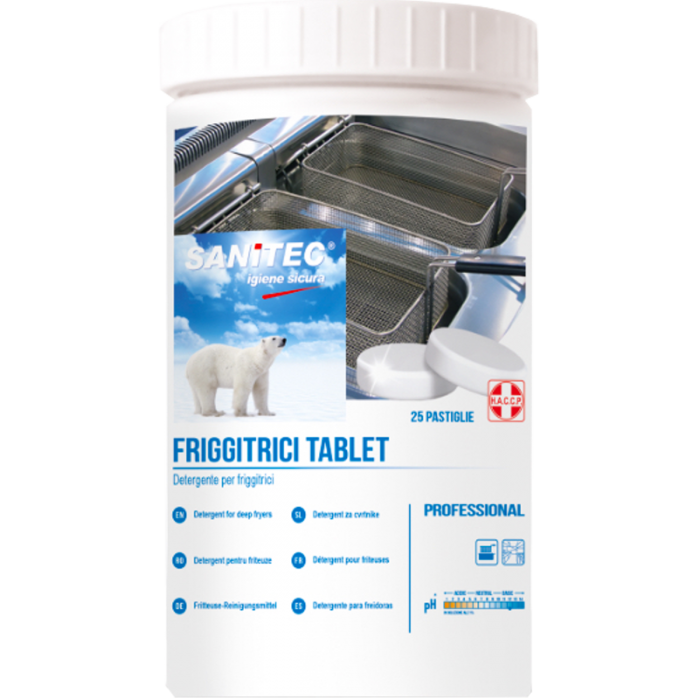 FRIGGITRICI TABLET - detergente per friggitrici